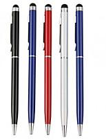kinston® 5 x universelle stylet métallique clip stylo écran tactile avec un stylo à bille pour iphone / ipad / samsung et d'autres