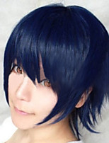 Fashion Color Cartoon Colored Wigs Masquerade Dedicated Short Smoke   Dark Blue Wig