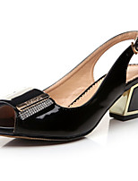 Women's Shoes  Chunky Heel Heels/Platform/Comfort/Open Toe Sandals Casual Black/Beige