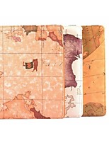 9.7 Inch 360 Degree Rotation Map Pattern with Stand Case with Pen for iPad Air 2/iPad 6(Assorted Colors)