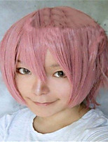 The New Cartoon Color Wig Smoke Pink Face  Short Straight Hair Wigs