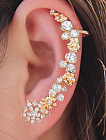 1pcs Fashion Crystal Snow Woman Ear Clip Earring Cuff ES27
