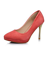 Women's Shoes Stiletto Heel Pointed Toe Pumps/Heels Office & Career/Dress Black/Purple/Red