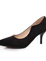 Women's Shoes Faux Suede/Canvas Stiletto Heel Heels/Pointed Toe/Closed Toe Pumps/Heels
