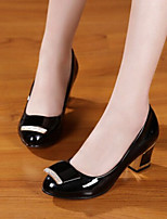 Women's Shoes  Chunky Heel Heels/Platform/Round Toe/Closed Toe Pumps/Heels Casual Black/Beige