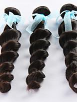 3Pcs/Lot 8-24 Peruvian Virgin Hair Natural Black Loose Wave hair Direct Manufacturer