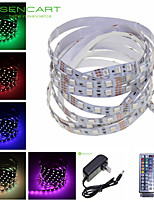 5M 300x5050 SMD RGB 72W Light LED Strip Lamp + 44-Key Controller + US Power Supply Adapter AC100-240V