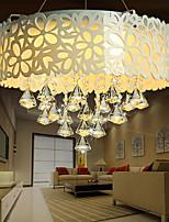 Flush Mount Crystal/LED Modern/Contemporary Living Room/Bedroom/Dining Room/Study Room/Office Metal