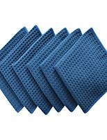 Sinland Thick Microfiber Waffle Weave Dish Cloths Washcloths Facial Cloths 380gsm 13
