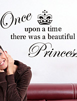 Wall Stickers Wall Decals Style Zonce Upon A Time English Words & Quotes PVC Wall Stickers