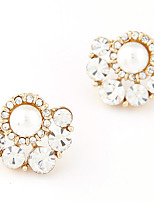 Women's Boutique Fashion Sweet Shining Stud Earrings With Rhinestone