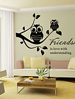 Wall Stickers Wall Decals Style Friendship English Words & Quotes PVC Wall Stickers