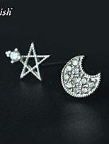Cute/Party/Work/Casual Sterling Silver/Cubic Zirconia Stud Earrings