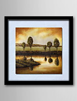 Oil Painting Modern Scenery Hand-Painted Natural Linen Solid Wood Frame Frameless Paintings