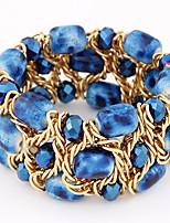 European Style Fashion Metal Braided Imitation Gravel Crystal Bracelet