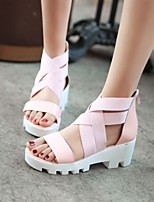 Women's Shoes  Stiletto Heel Gladiator Sandals Office & Career/Dress Black/Pink/White/Silver