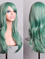 70 cm Long Curly Mint Green Hair Air Volume High Temperature Silk Wig