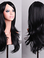 70 cm Long Curly Black Hair Air Volume High Temperature Silk Wig