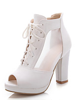 Women's Shoes Wedge Heel Peep Toe Sandals Office & Career/Dress Blue/Pink/White
