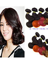 3 Pcs Lot 8 Inch Brazilian Virgin Hair Short Body Wave Human Hair  Bundles Ombre Body Wave