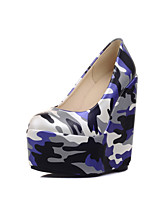 Women's Shoes  Wedge Heel Round Toe / Closed Toe Heels Office & Career / Dress / Casual Blue / Green / Red