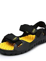 Sapatos Masculinos-Sandálias-Preto / Azul / Marrom / Amarelo-Tecido-Ar-Livre / Casual