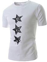 Men's Fashion Stars Print Slim Short Sleeved T-Shirts