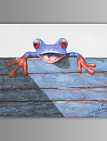 Oil Painting Modern Abstract Frog Hand Painted Canvas with Stretched Frame