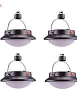 4pcs hry® 60led super luminoso de la lámpara de la tienda de campaña al aire libre y luces de emergencia