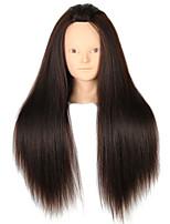 YAKI Synthetic Hair Salon Female Mannequin Head No Make-up