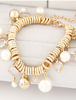 Women's Fashion Trend Wild Pearl Metal Bracelet