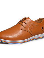 Men's Shoes Casual Faux Leather Oxfords Brown/Navy
