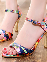 Women's Shoes Stiletto Heel Open Toe Sandals Dress Blue/Pink