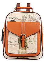 Women PU Bucket Backpack / Travel Bag - White / Pink / Purple / Blue / Brown