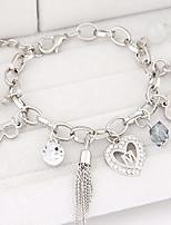Fashion Metal Trend Wild Love Hearts Letter R Bracelet