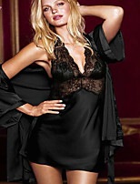 Women Lace/Polyester/Spandex Babydoll & Slips/Chemises & Gowns/Lace Lingerie/Robes/Ultra Sexy/Suits Nightwear