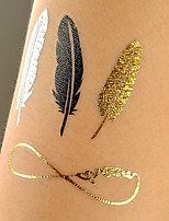 Big Size Gold Tattoo Silver Temporary Tattoos Metallic Temporary Tattoos Women Jewelry