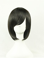 The New Cartoon Color Wig Make Face Short Black  Straight Hair Wigs