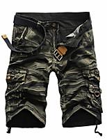 Men's Casual/Sport/Plus Sizes Print Shorts Pants (Cotton)