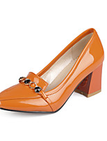 Women's Shoes Chunky Heel Comfort / Pointed Toe Heels Outdoor / Office & Career / Dress / Casual Black / White / Orange