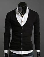 Maimi Men's Casual/Work/Formal Pure Long Sleeve Regular Pullover (Knitwear)