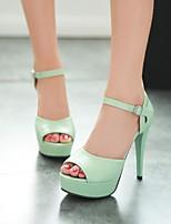 Women's Shoes Stiletto Heel Peep Toe Sandals Party & Evening/Dress Green/Pink/Purple/White