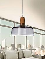 Modern Glass Pendant Light in  Smoke grey Bubble Design