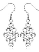 Concise Silver Plated Grape Stringed Dangle Earrings for Party Women Jewelry Accessiories