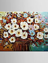 Oil Painting Flower Abstract Hand Painted Canvas with Stretched Framed