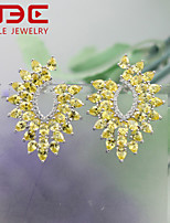 NBE Sterling Silver/Zircon Earring Stud Earrings/Drop Earrings Wedding/Party/Daily/Casual 1pair