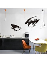 Free Shipping Hepburns Eyes Vinyl Wall Decals Zooyoo8024 Wall Sticker 80*150cm Waterproof Windows Home Decorations