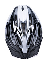 High-Breathability PC+EPS Black Bicycle Helmet With Detachable Sunvisor (17 Vents) - Black + Silver