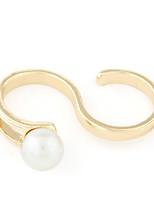 Women's European Style Fashion Alloy Ring With Imitation Pearl