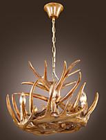 LBKB001 Pendant Lights Brown Antlers Resin Painting Classic